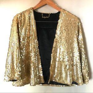 Baby Phat Gold Sequin Jacket